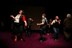 Fat Activists the Chubsters dance in a group